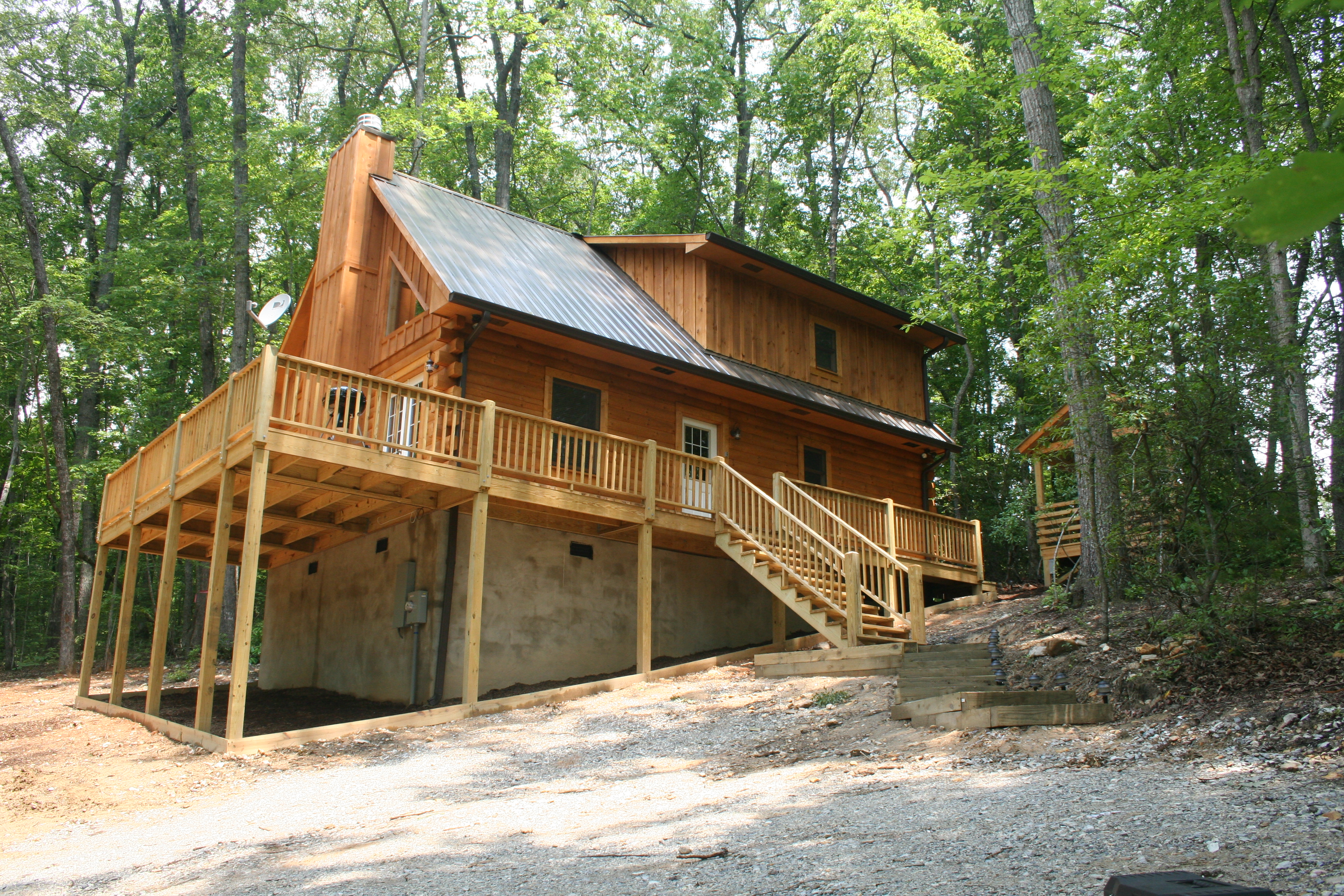 cabin outdoor ridge rentals fireplace seaons blue four carolina boone north vacation cabins nc in