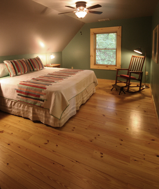Guest bedroom at Woodlands cabin #2