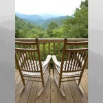 Abbott cabin porch and view @ Rock Creek Cabins