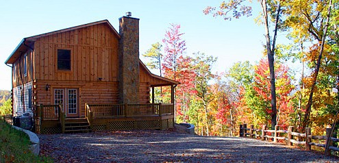O'mygosh cabin and fall colors @ Rock Creek Cabins